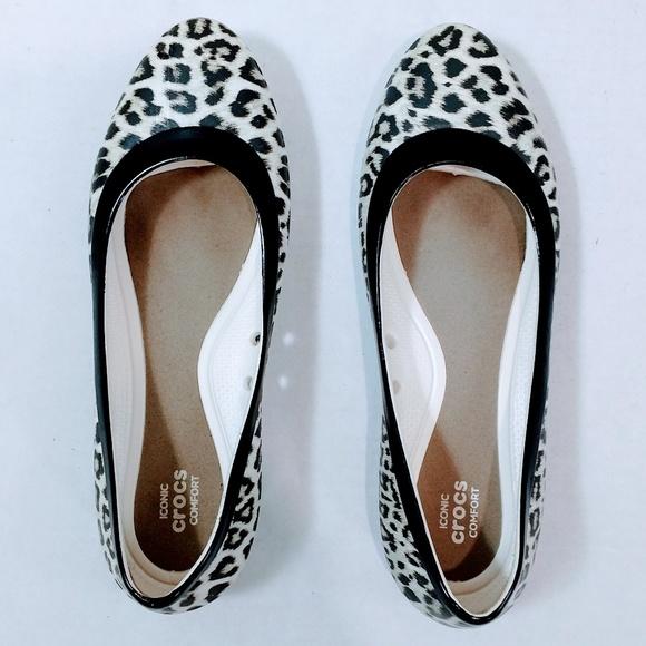 fa5249e1c13b CROCS Shoes - Crocs Iconic Comfort Sz 6 Flats Animal Print W